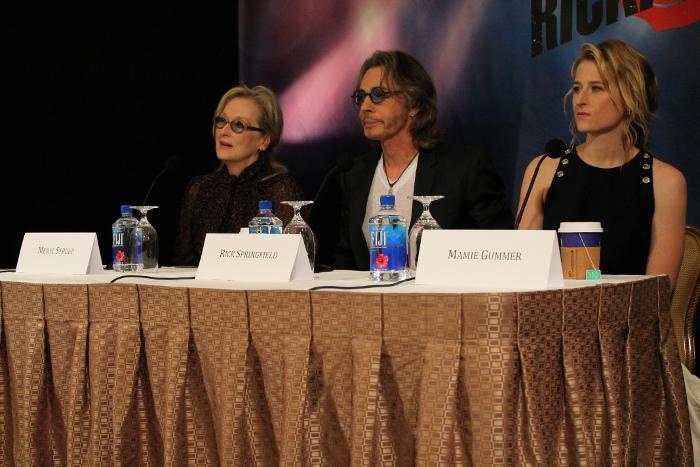 Meryl Streep, Rick Springfield, and Mamie Gummer